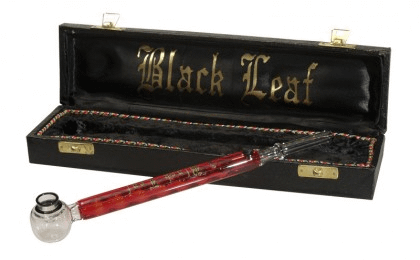 Black Leaf Liquid Freezer Vaporizing Glass Handpipe