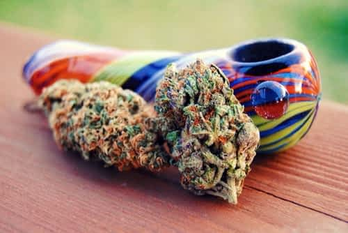 Glass bowl for smoking weed