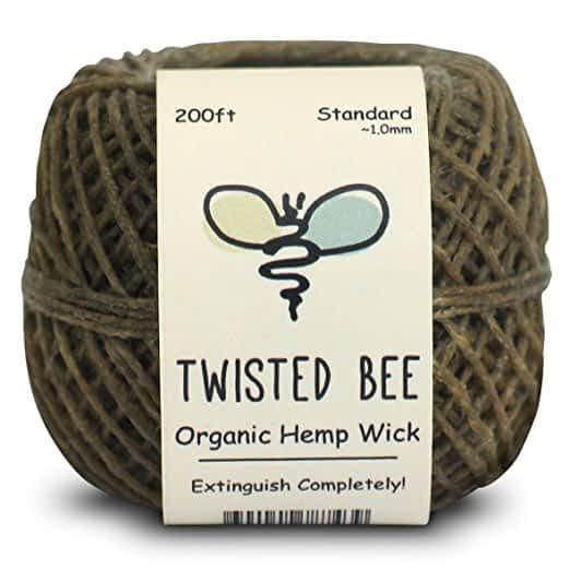 Twisted Bee Organic Hemp Wick + Wrapper